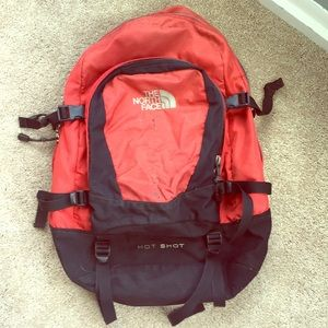 The North Face Red & Black Hot Shot Backpack